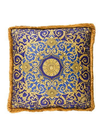 Versace Silk Throw Pillow - Pillows And Throws - VES30590 The RealReal