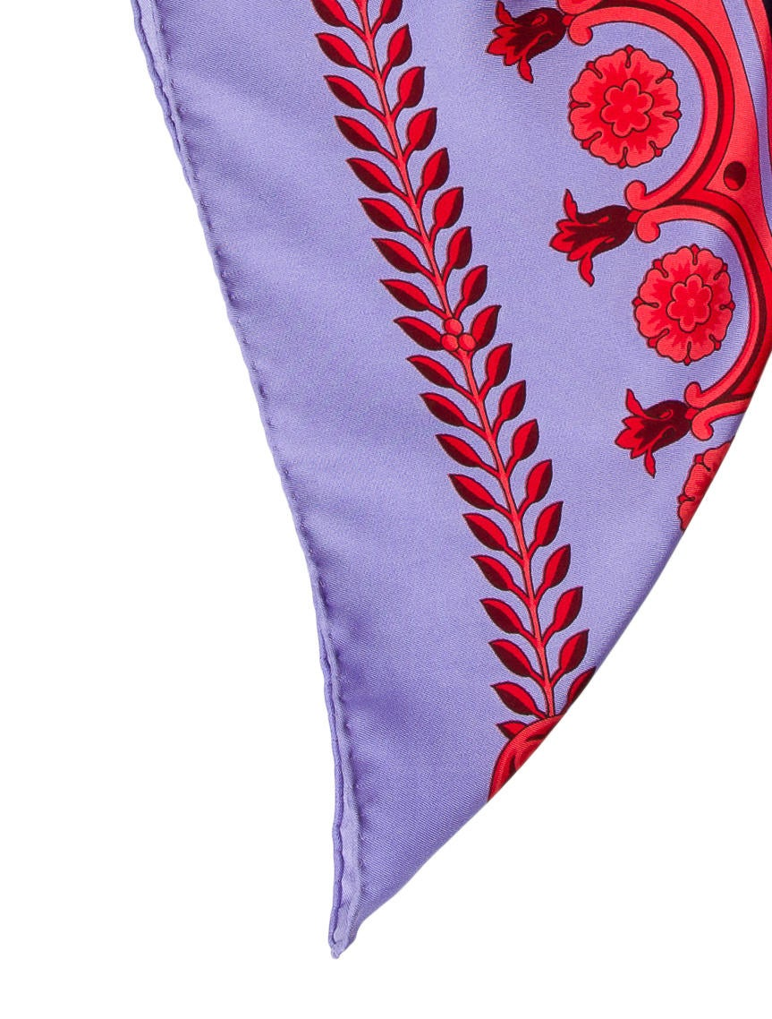 versace floral silk scarf accessories ves30663 the