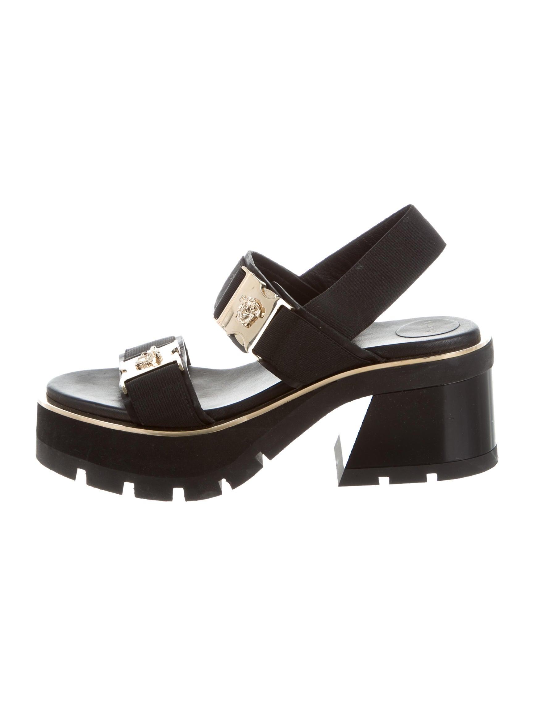 Versace Medusa Flatform Sandals - Shoes - VES30725 | The RealReal