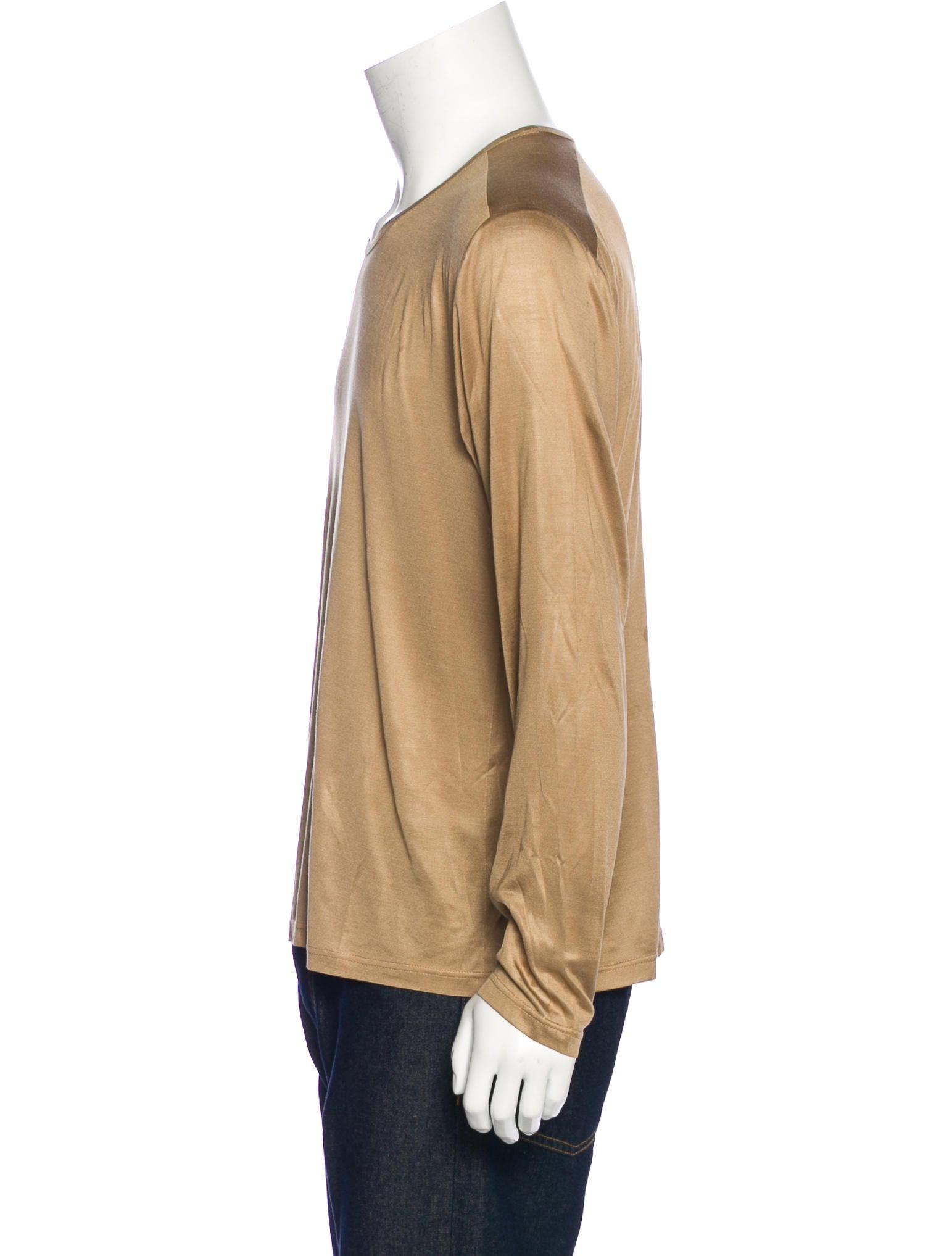 versace silk long sleeve tshirt clothing ves30772