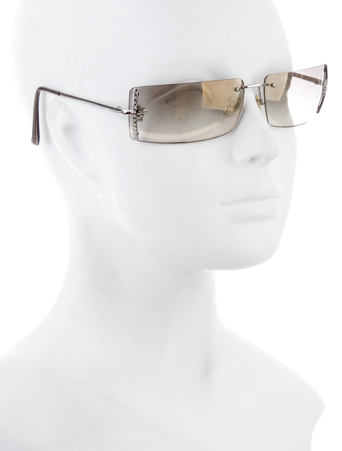 a20b1b9ec1 Versace Frameless Sunglasses Amazon