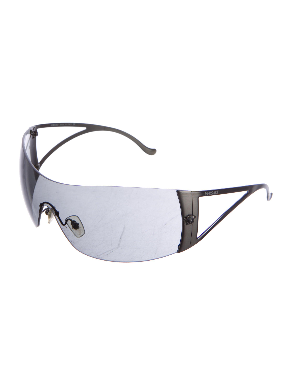 1fbf112852 Versace Rimless Shield Sunglasses - Accessories - VES31045