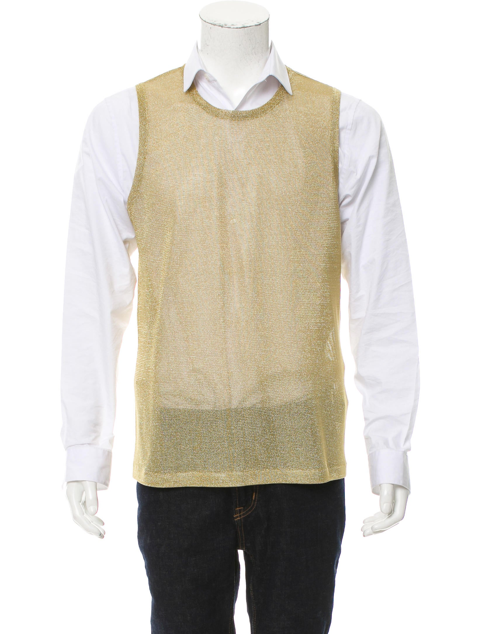 Versace Open Knit Sweater Vest - Clothing - VES31111 | The RealReal