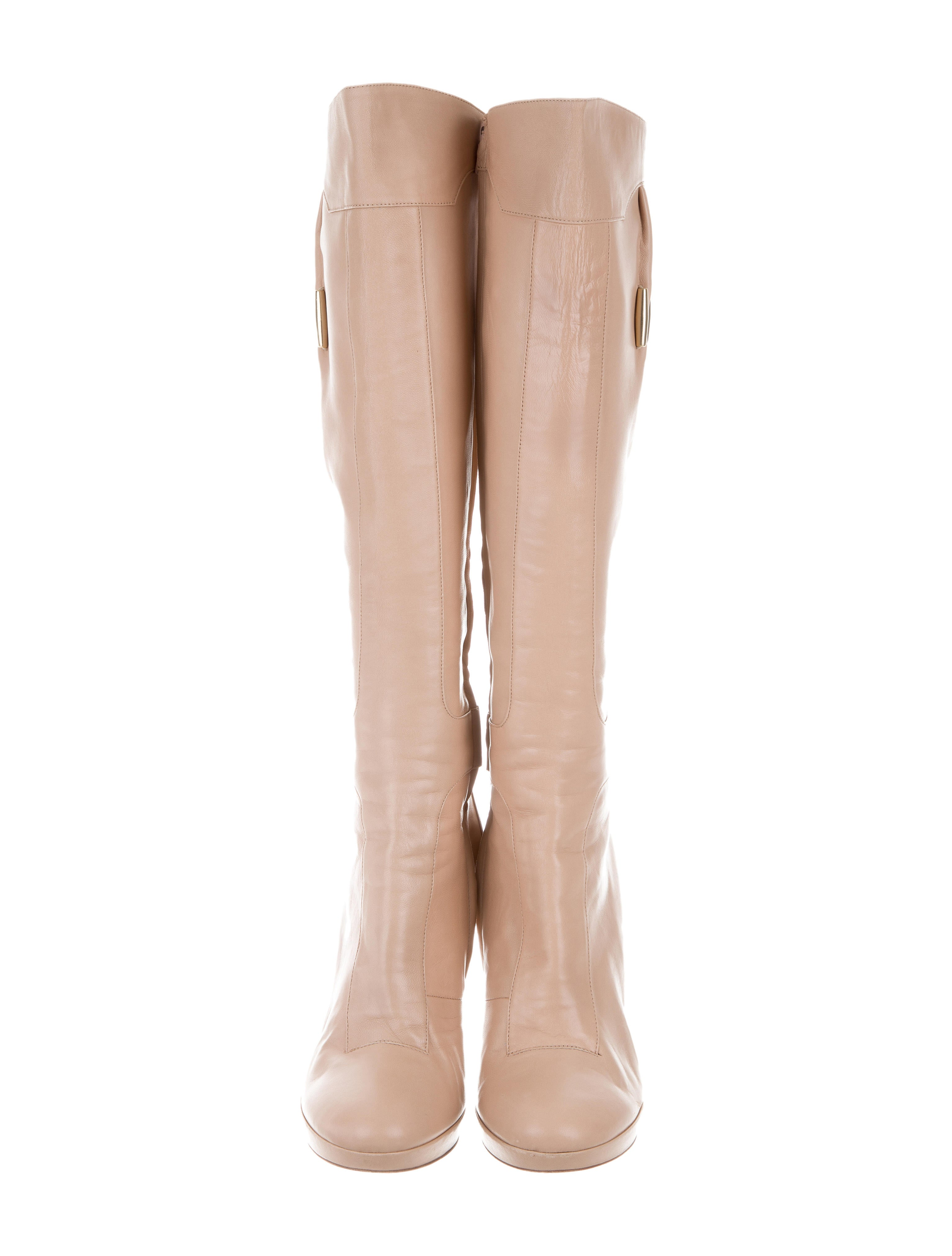 Versace Platform Knee High Boots Shoes VES31272 The  : VES312723enlarged from www.therealreal.com size 3068 x 4048 jpeg 436kB