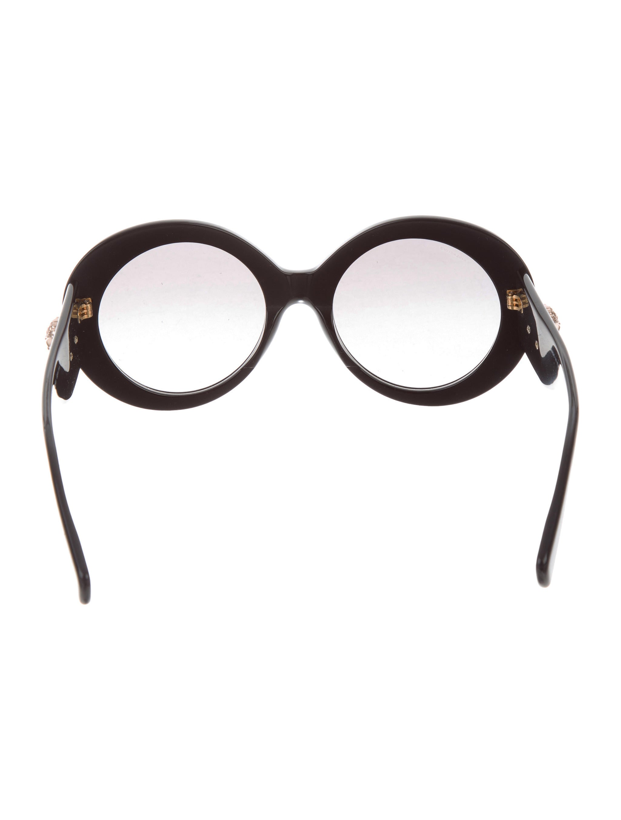 1e7653249439 Versace Black And Gold Rounded Sunglasses - Bitterroot Public Library