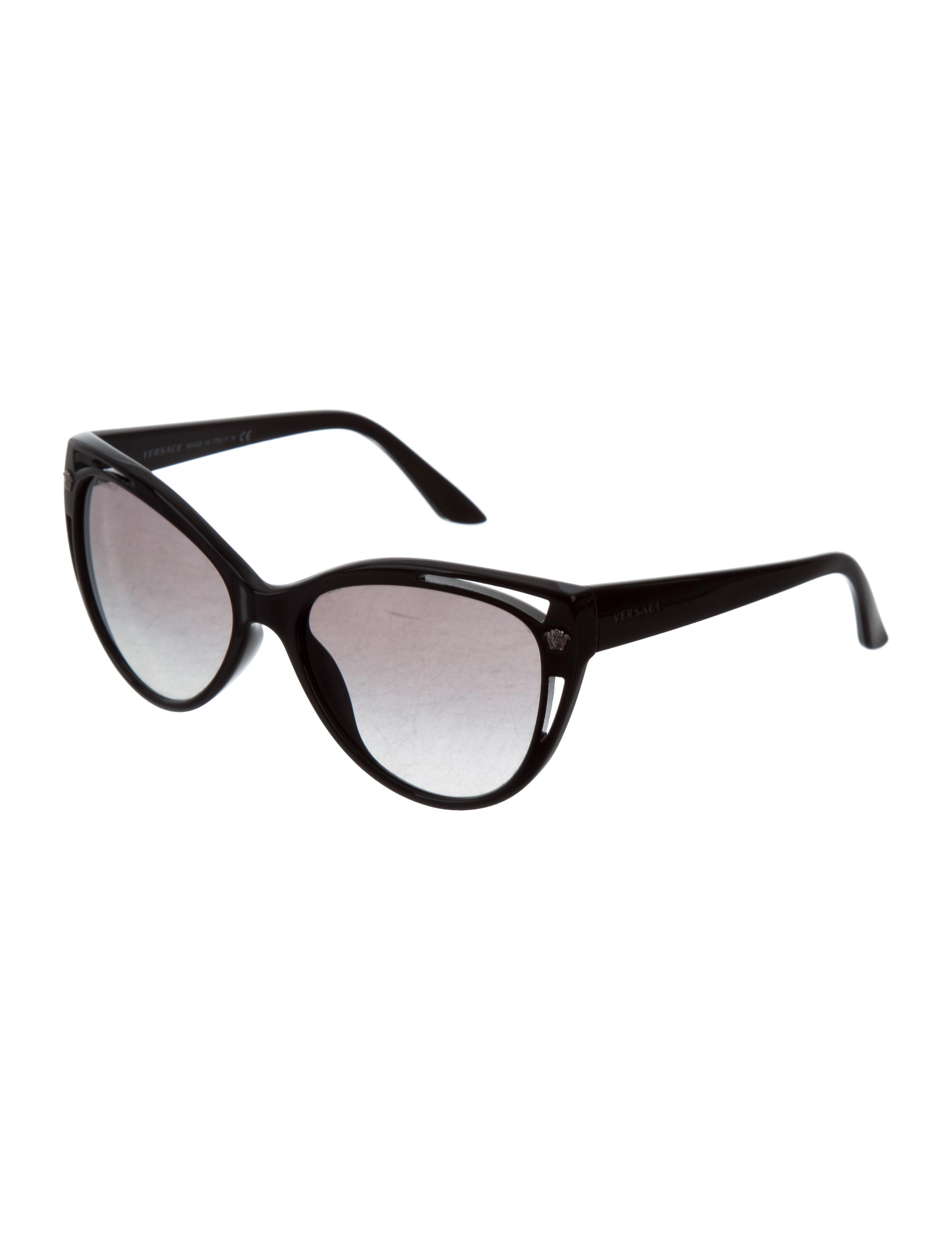495f3b8af1aa Versace Cat Eye Sunglasses With Medusa Detail