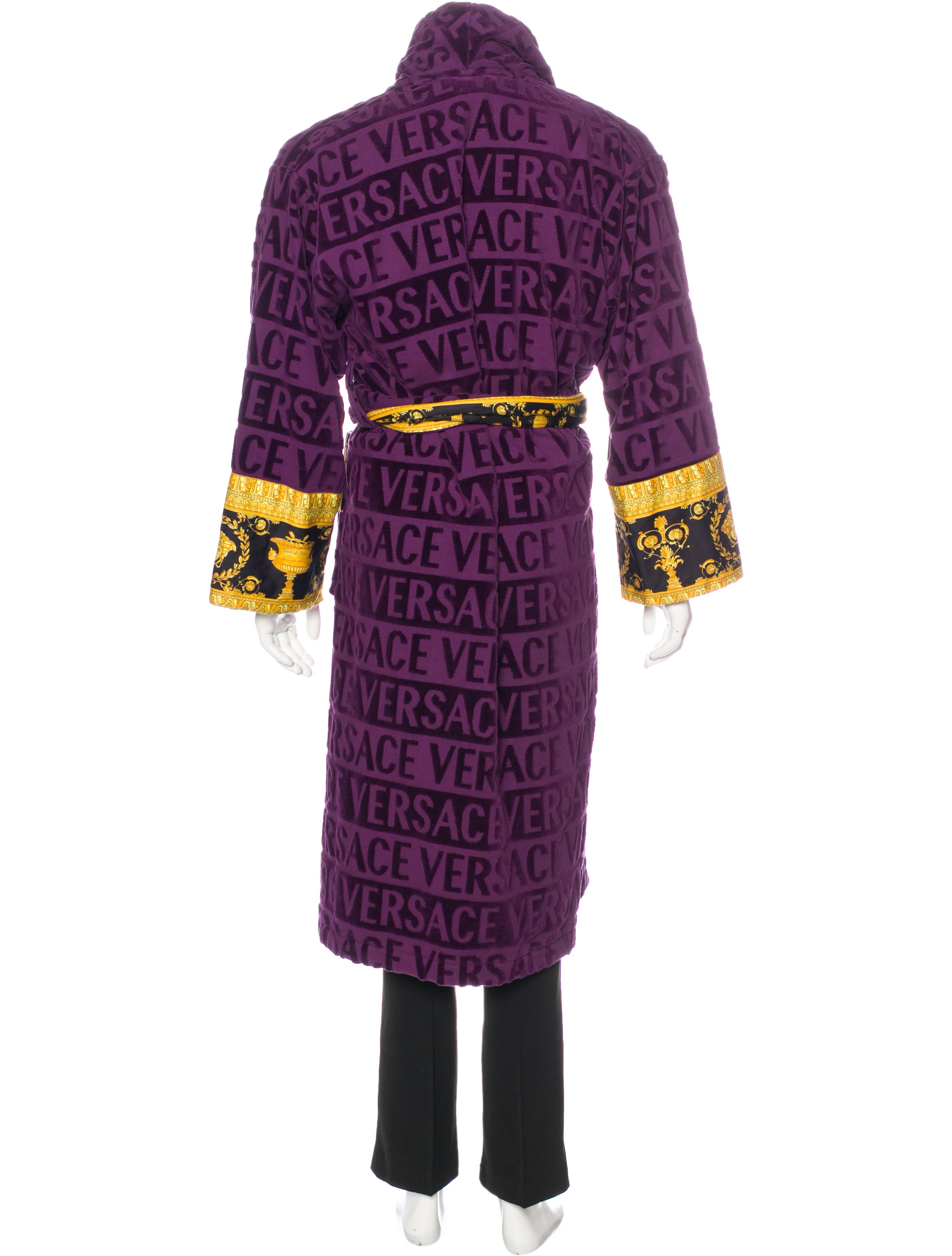 Versace 2017 Logo Baroque Robe Clothing VES31877 The  : VES318773enlarged from www.therealreal.com size 2589 x 3415 jpeg 417kB