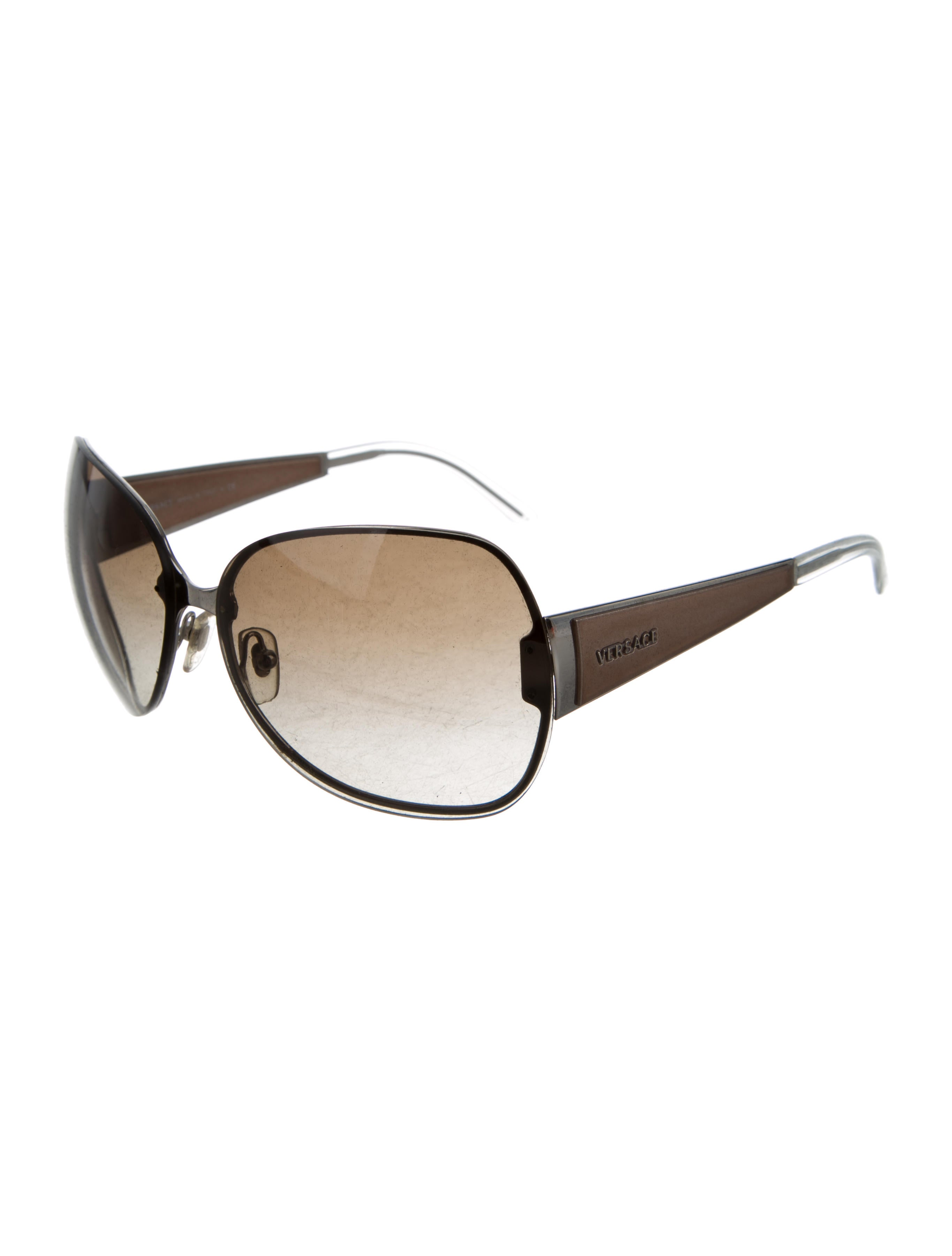 058348f7a9b5 Versace Black Rimless Sunglasses