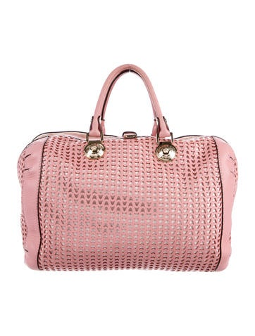 Versace Perforated Satchel None