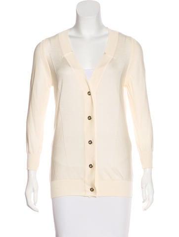 Versace Silk Button-Up Cardigan None