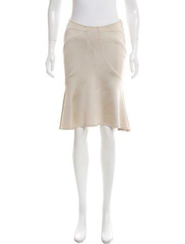 Versace Knit Knee-Length Skirt None