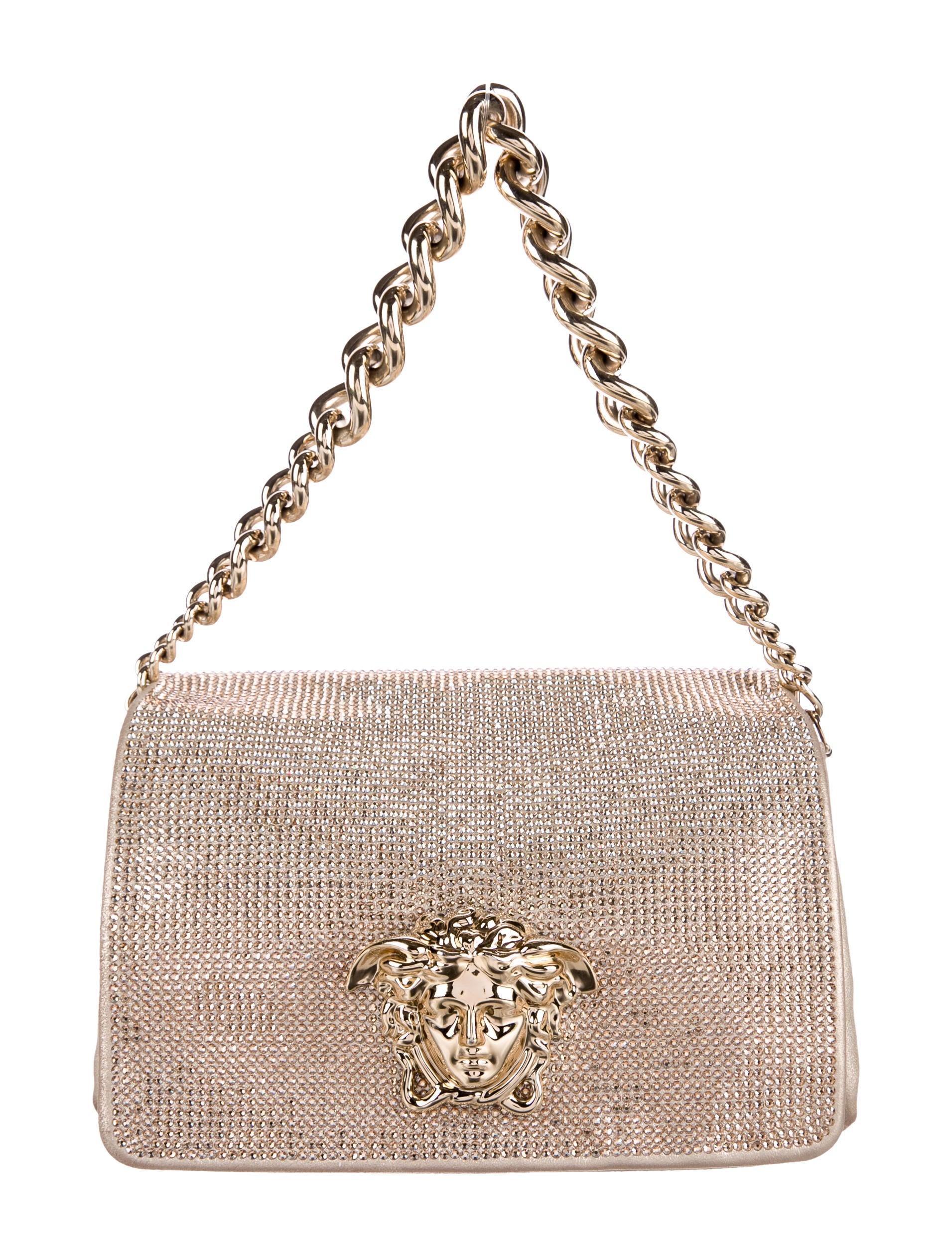 Versace Sultan Crystal Shoulder Bag - Handbags