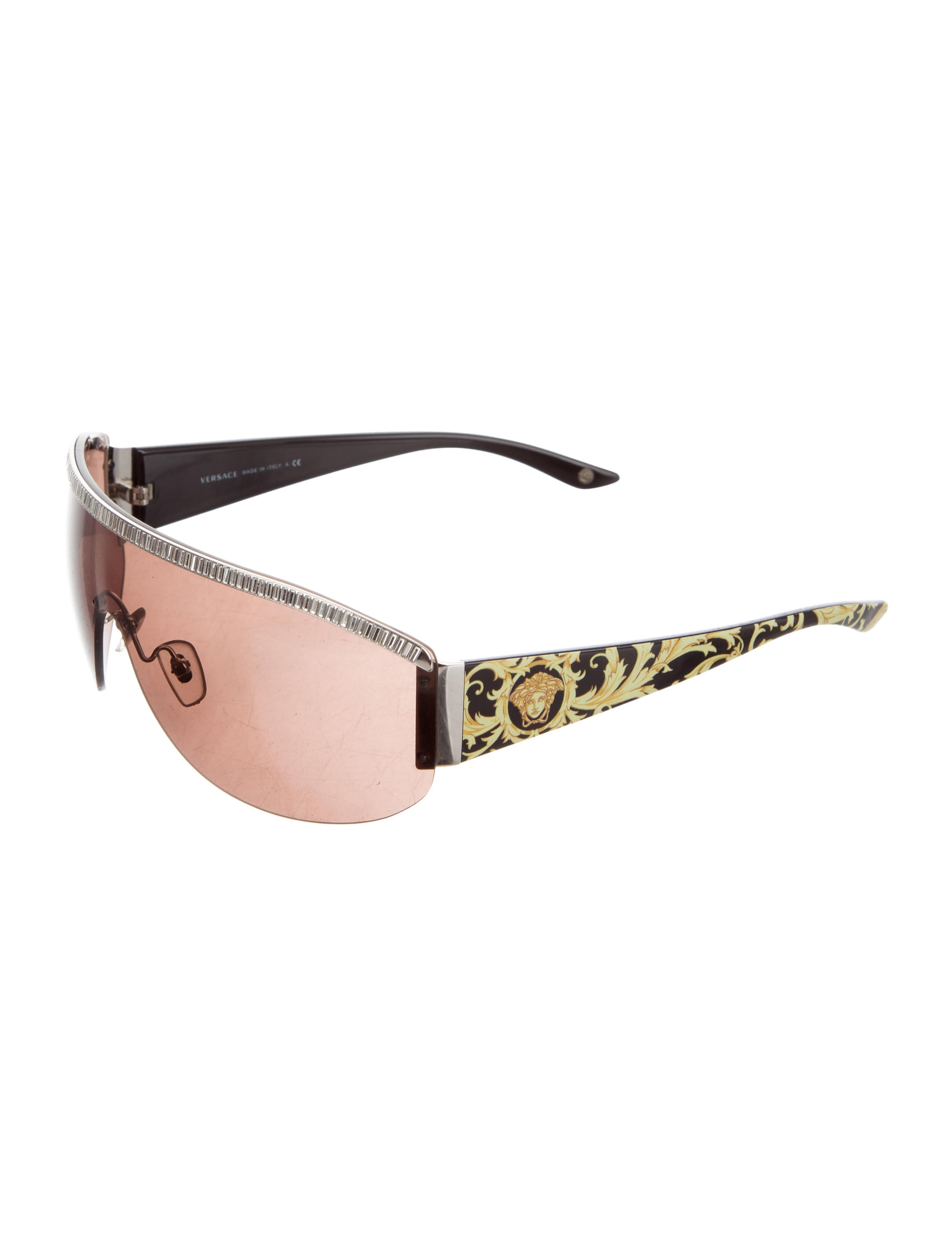 fd3402b3ec2 Versace Embellished Rimless Sunglasses - Accessories - VES32460