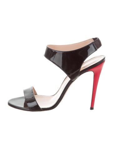 Versace Patent Leather Multistrap Sandals Manchester sale online ZbLSOTP