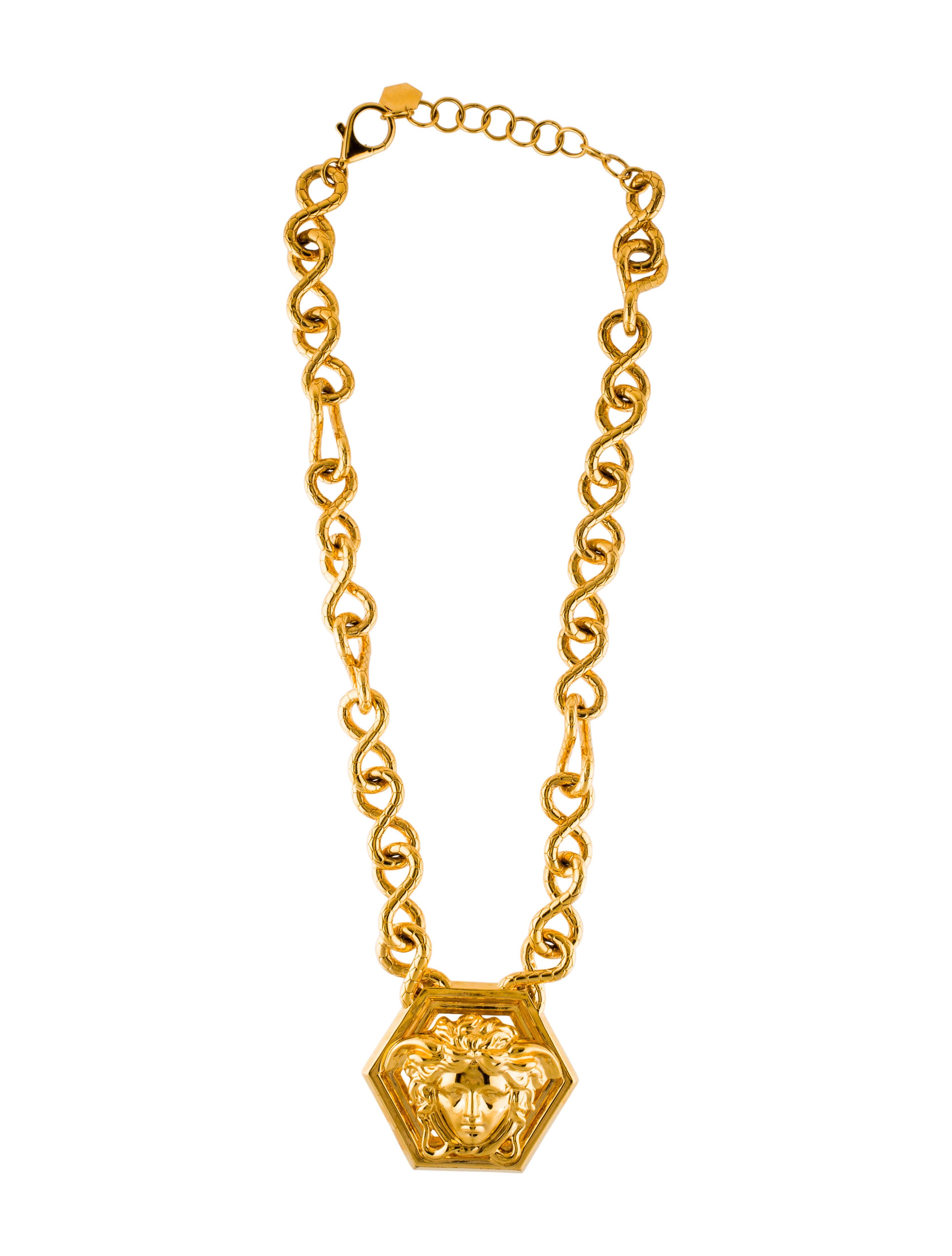 Versace medusa pendant necklace necklaces ves33076 the realreal medusa pendant necklace aloadofball Images