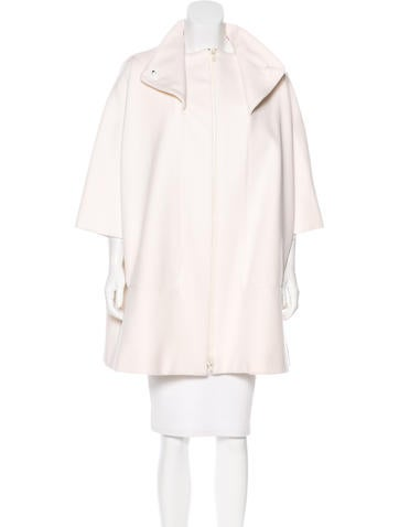 Versace Wool & Silk-Blend Coat None