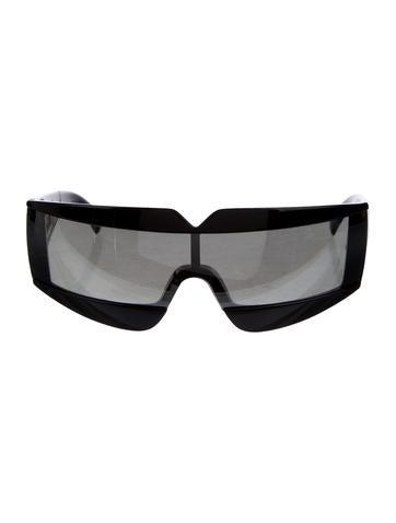 Versace Mirrored Narrow Sunglasses None