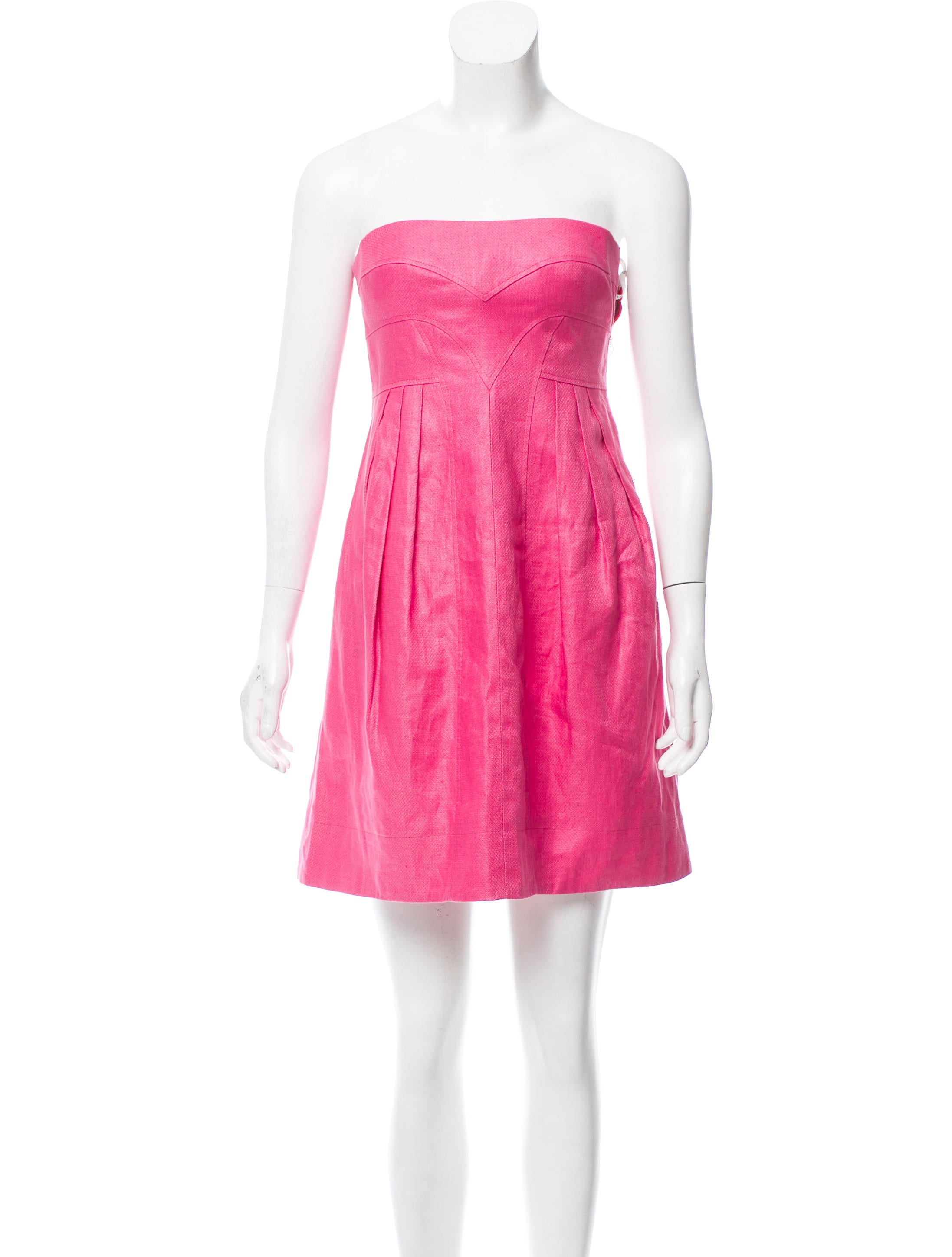 Versace Linen Strapless Dress - Clothing - VES33525 | The RealReal