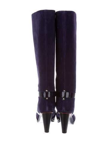 Suede Knee-High Boots w/ Tags