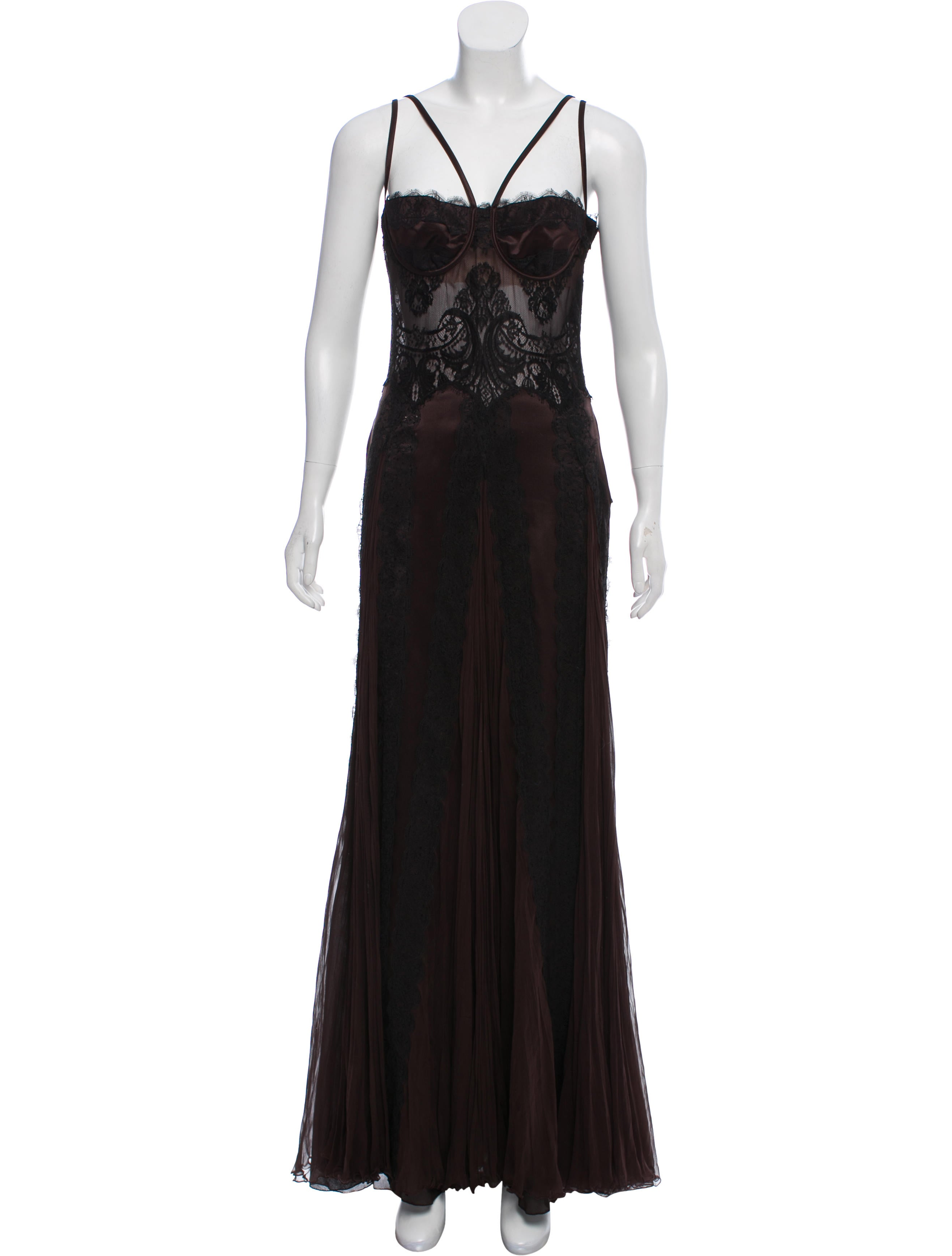 Versace Silk Evening Dress - Clothing - VES34685   The RealReal