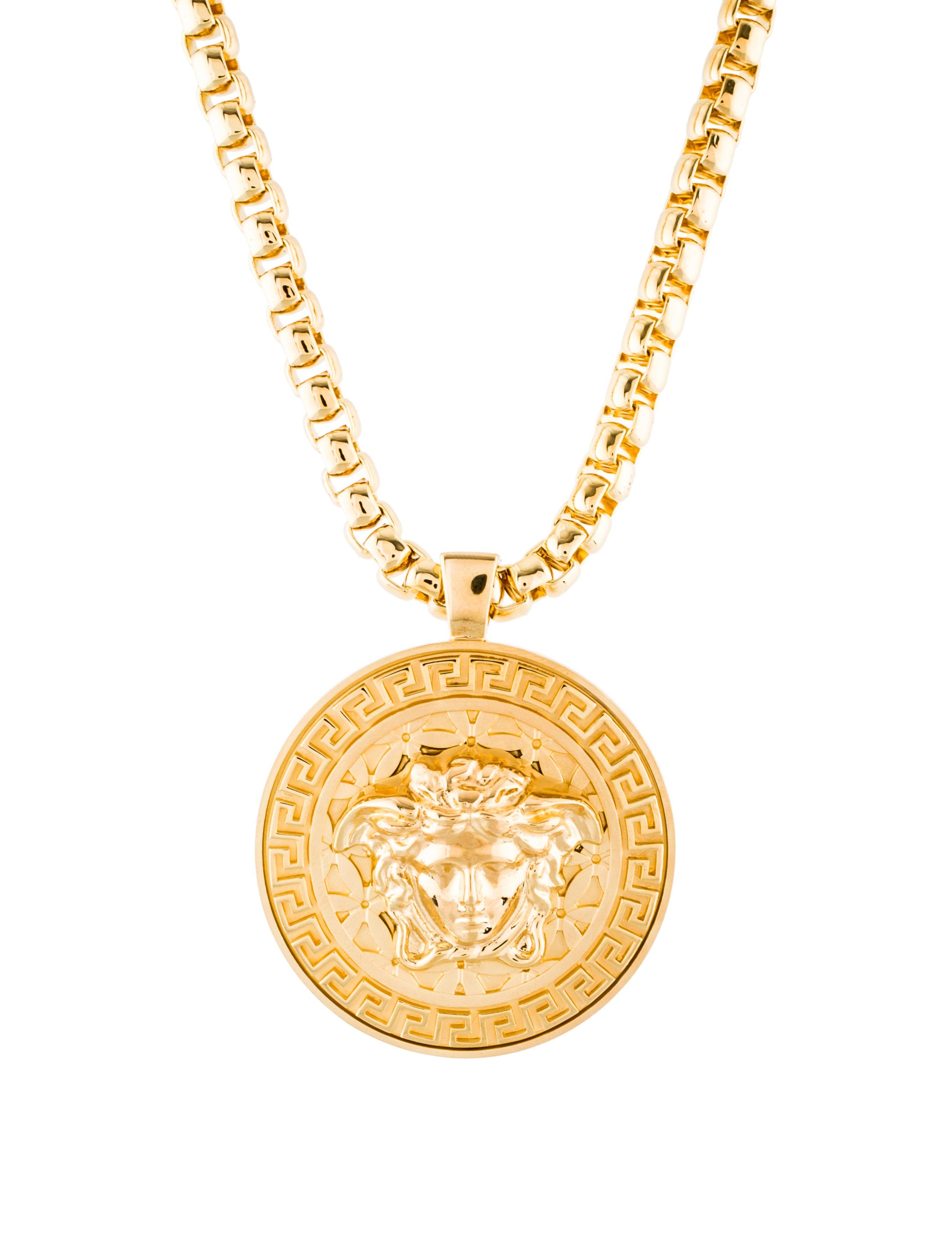 Versace medusa pendant necklace w tags necklaces ves36053 the medusa pendant necklace w tags aloadofball Images