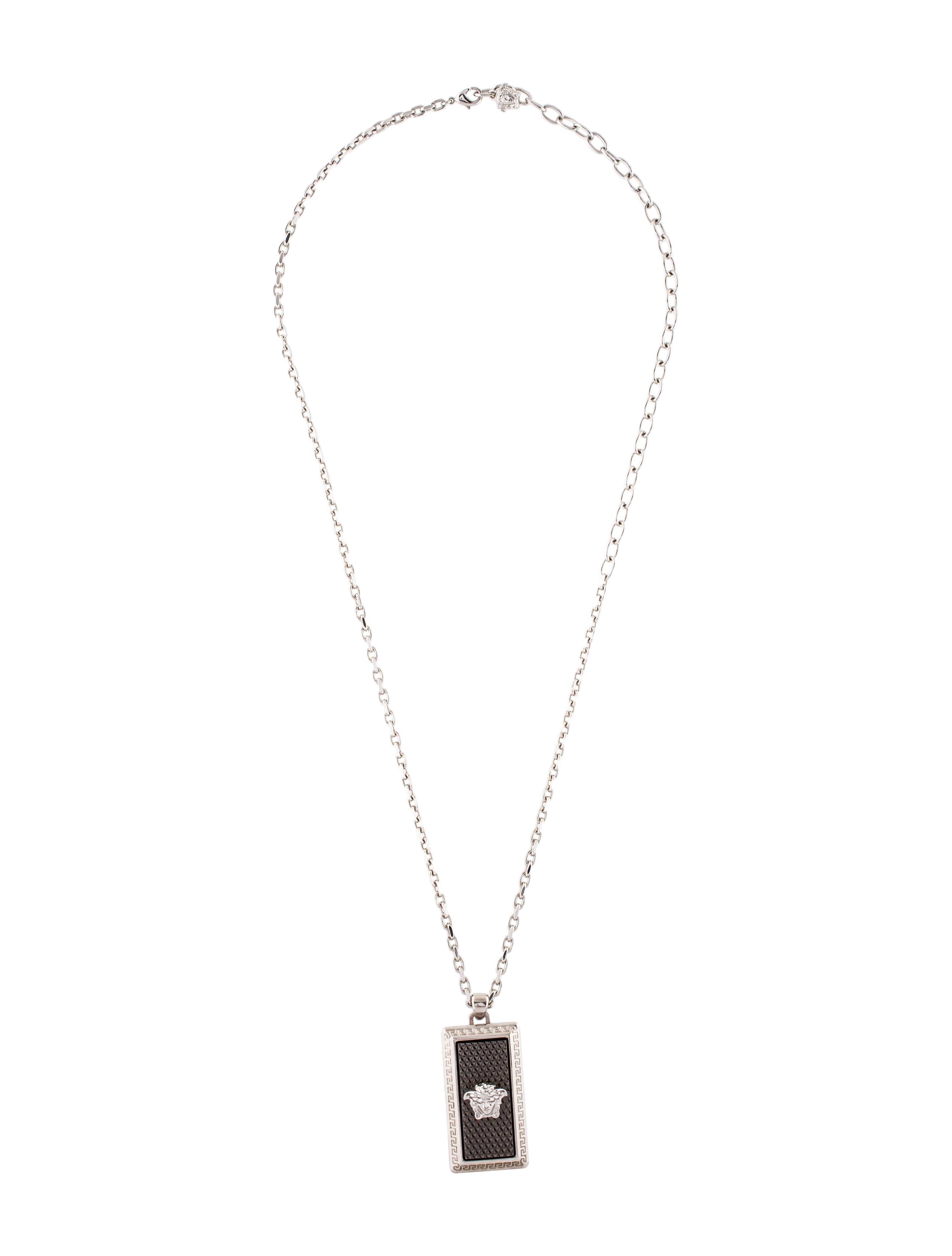 Versace medusa pendant necklace necklaces ves36138 the realreal medusa pendant necklace aloadofball Images