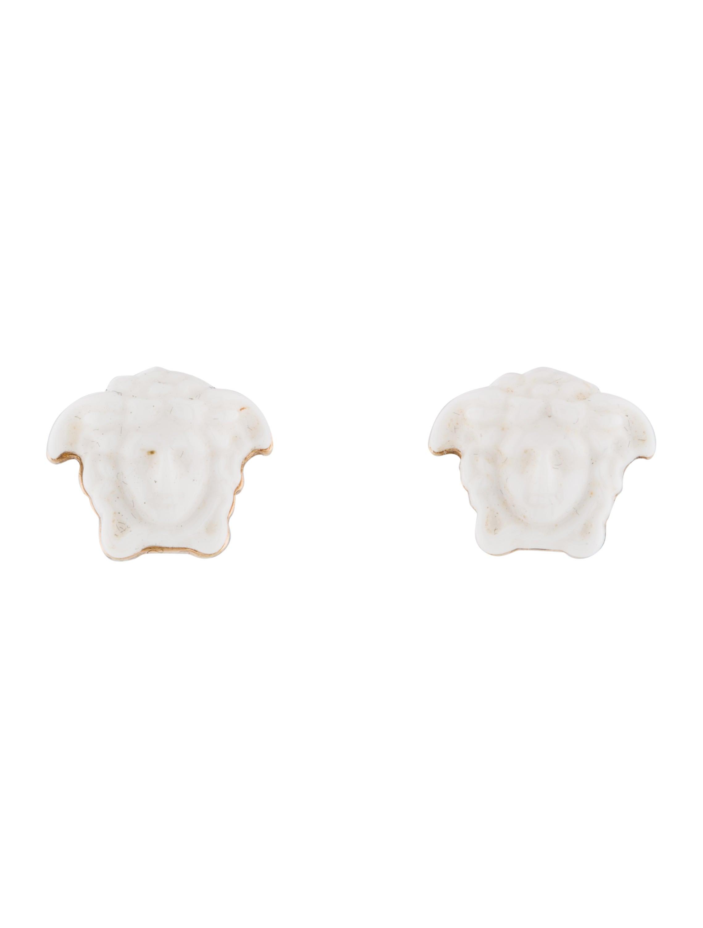 833103e48 Versace Resin Medusa Stud Earrings - Earrings - VES36809 | The RealReal