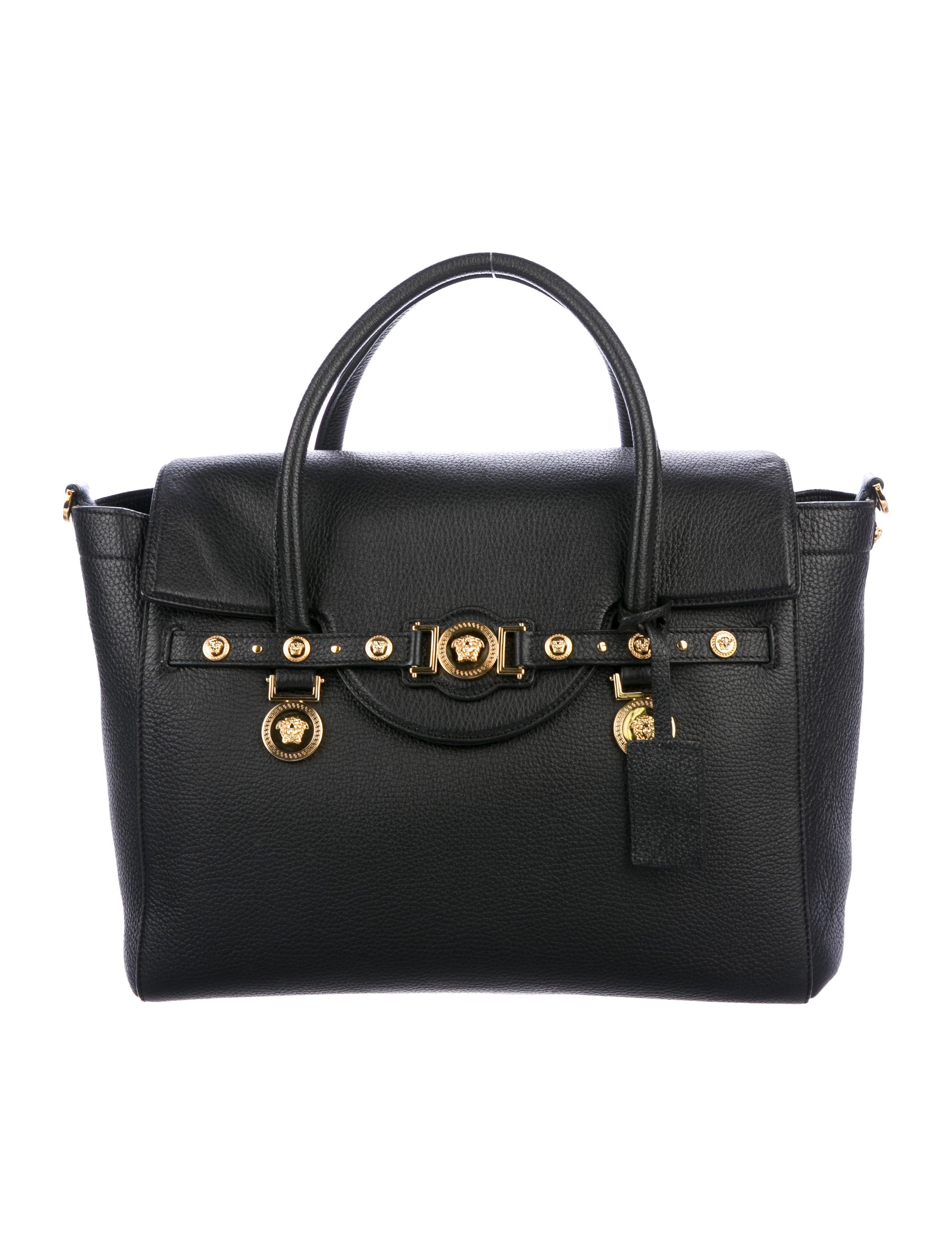 acc87900f4 Versace Leather Signature Bag - Handbags - VES38925