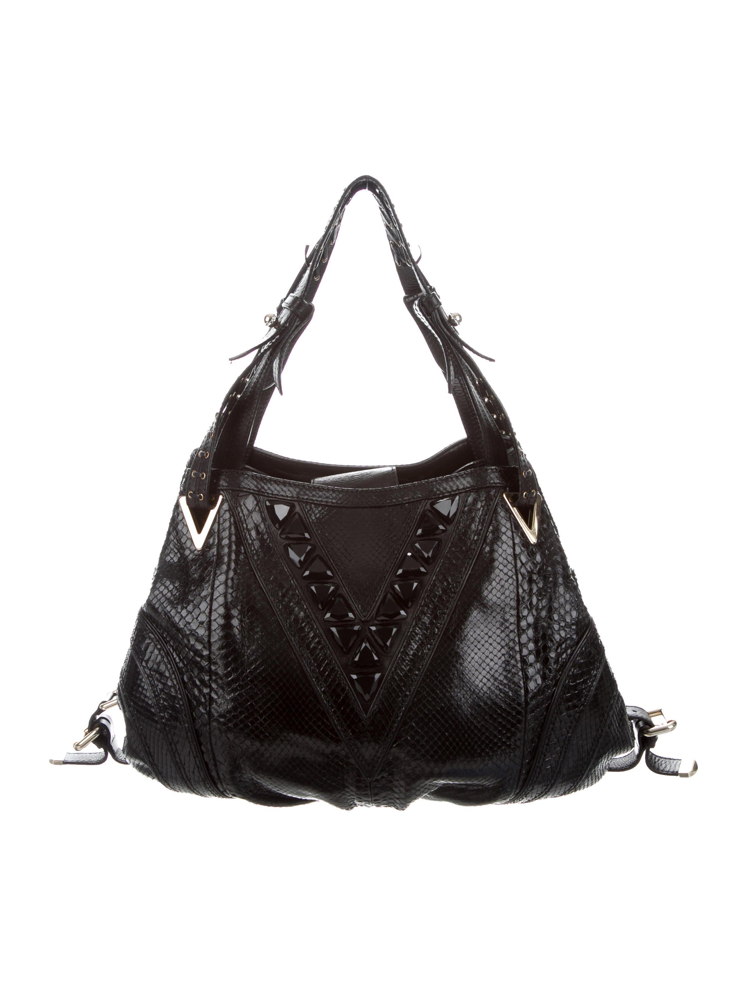 9a2a04d054 Versace Snakeskin Shoulder Bag - Handbags - VES39224