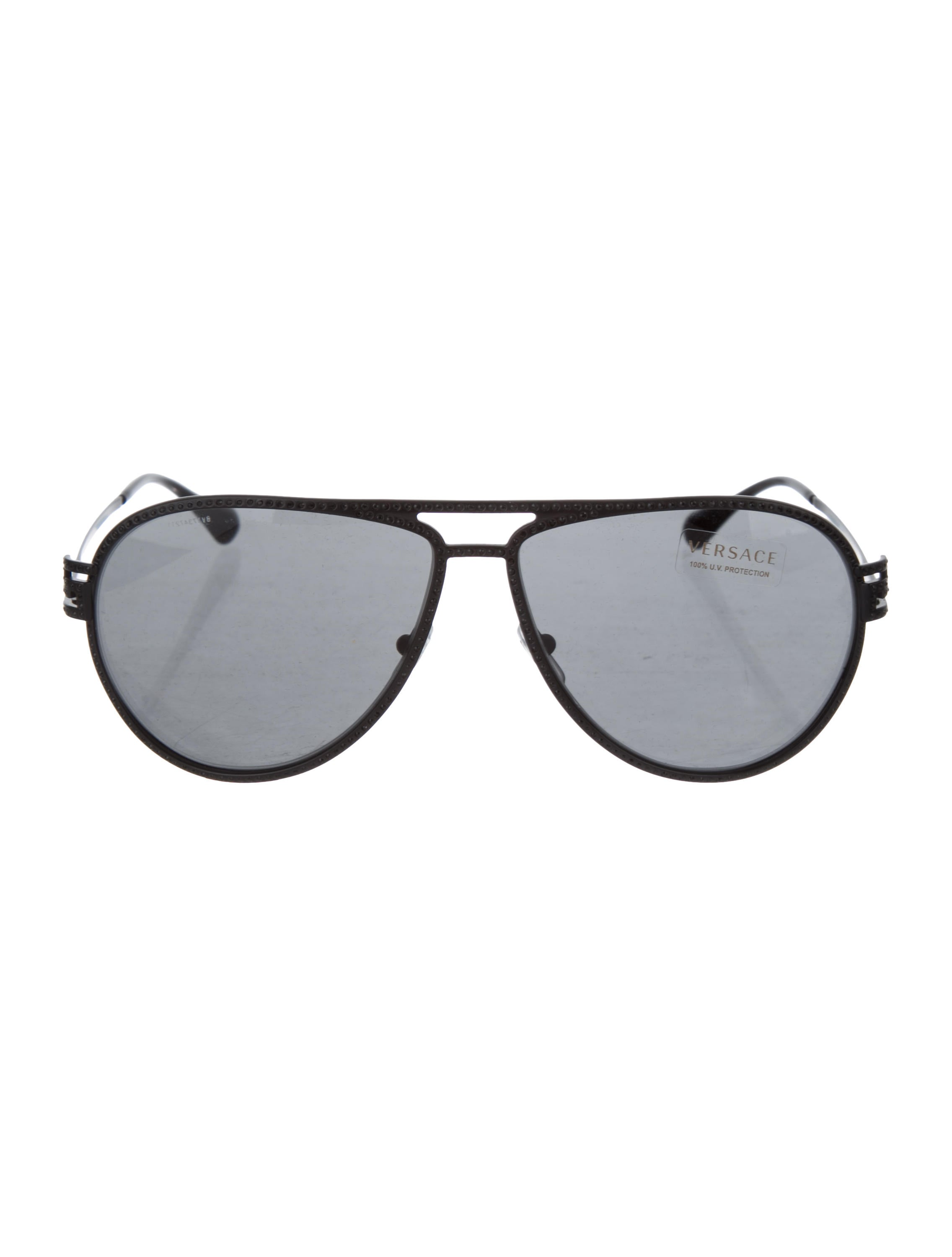 270a69d873af Versace Embellished Aviator Sunglasses - Accessories - VES39835 ...