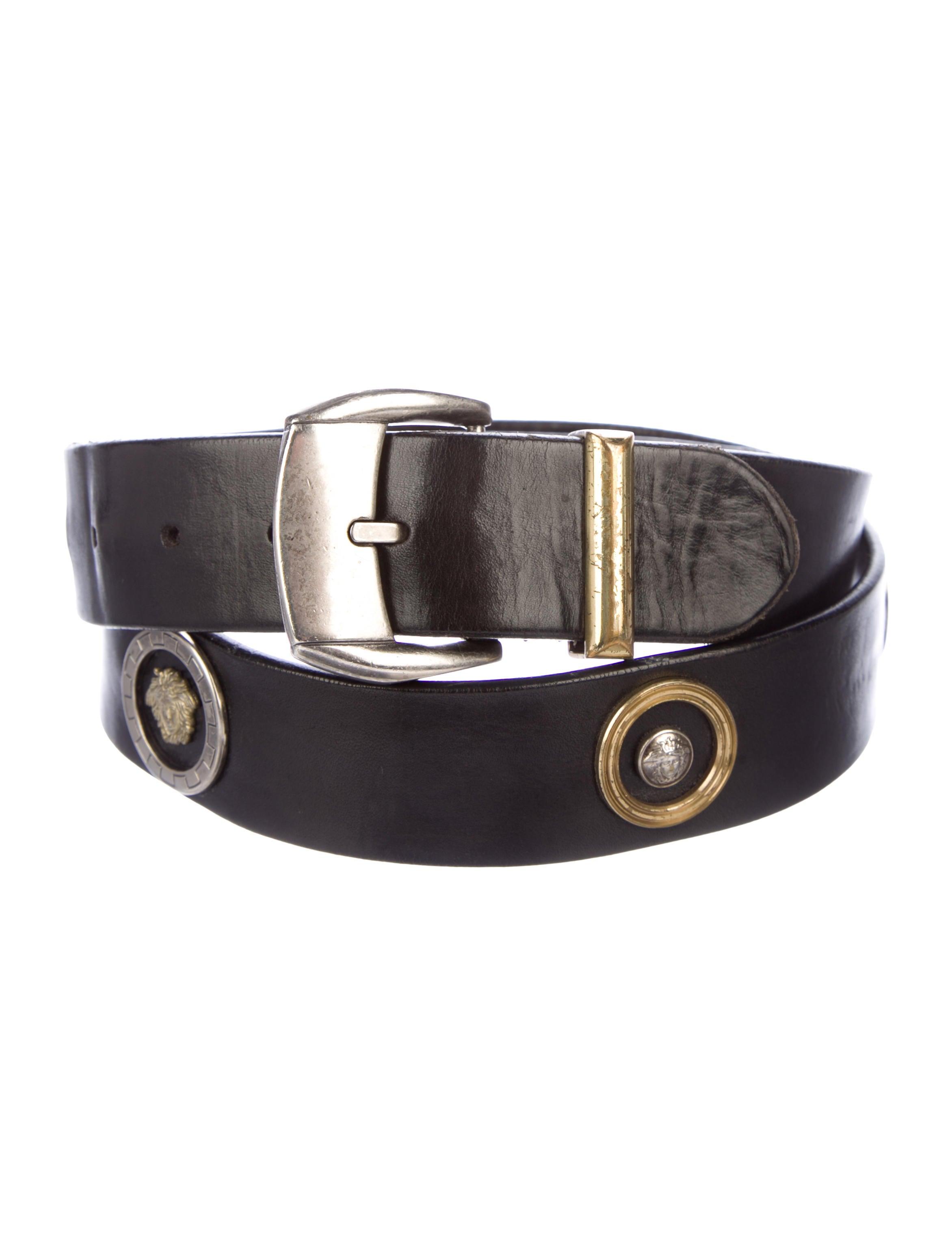 6d20fdbf7779 Versace Leather Buckle Belt - Accessories - VES41229