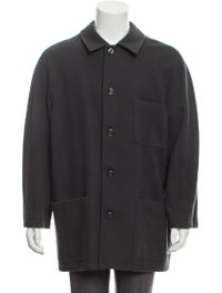 Virgin Wool Button-Up Coat image 1