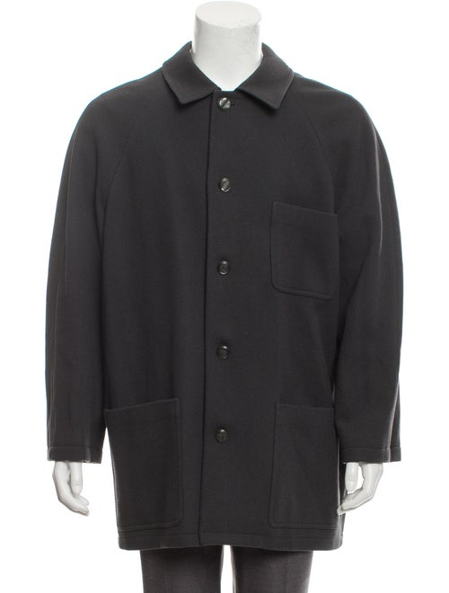 Virgin Wool Button-Up Coat