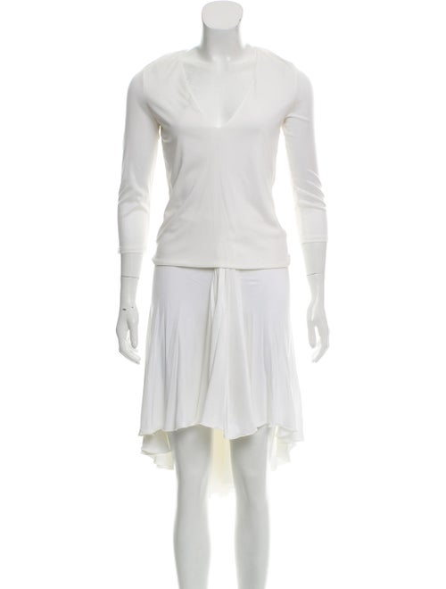Versace Knee-Length Skirt Set White