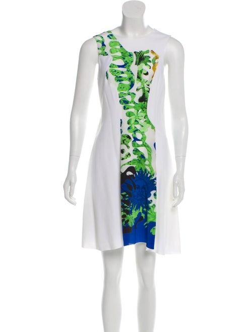 Versace Sleeveless Silk Dress White