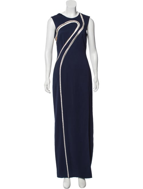 Versace Embellished Mesh-Accented Dress