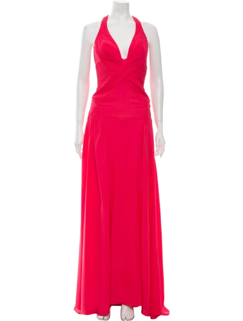 Versace Silk Maxi Gown Pink