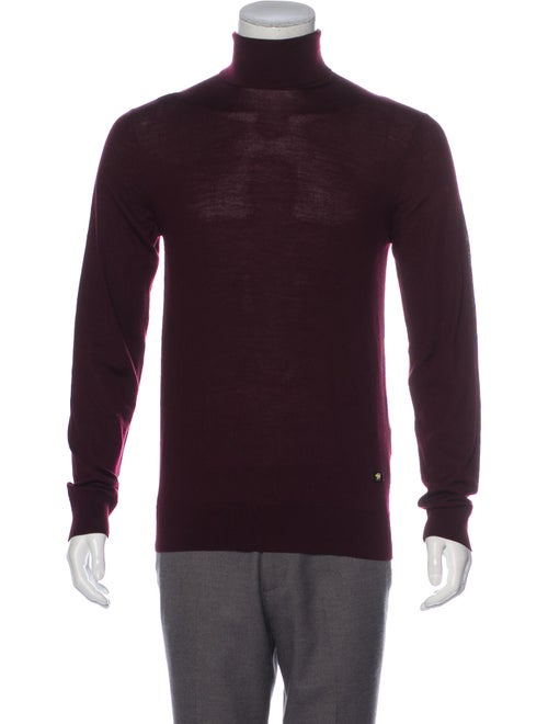Versace Wool Long Sleeve Turtleneck wool