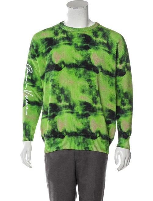 Versace Knit Tie-Dye Sweater green
