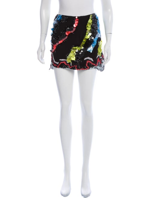 Versace Silk Mini Skirt Black