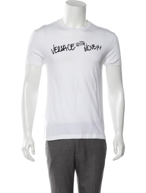 Versace 'Versace With Love' Crew Neck T-Shirt whit