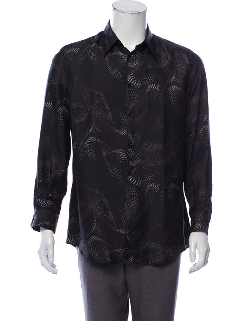 Versace Silk Abstract Print Shirt