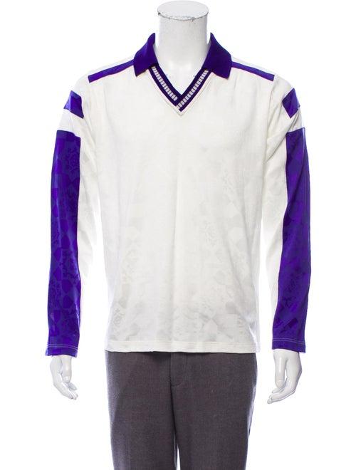 Versace Collared Long Sleeve T-Shirt purple