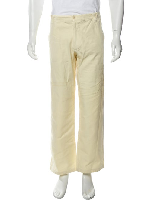 Versace Woven Relaxed Jeans yellow