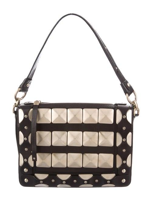 Versace Leather Shoulder Bag Black
