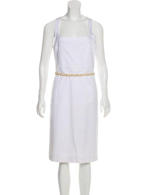 Versace Sleeveless Midi Dress White