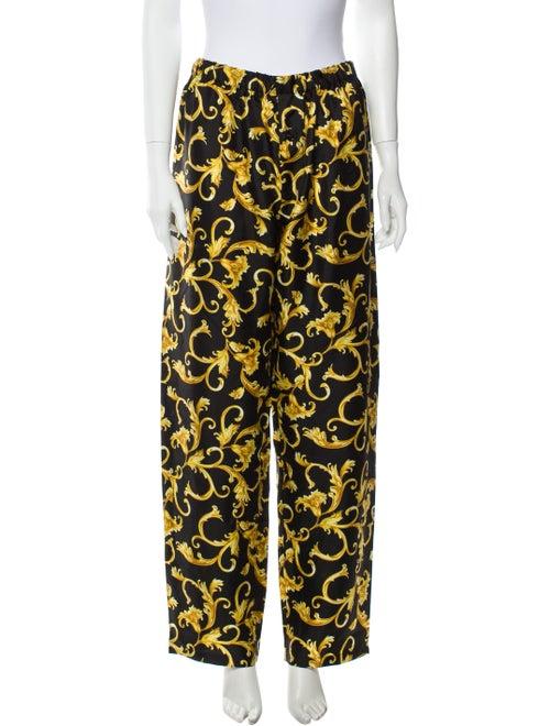Versace Silk Baroque Lounge Pants w/ Tags black