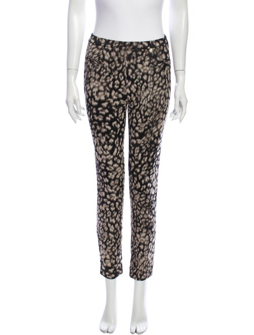 Versace Animal Print Skinny Leg Pants