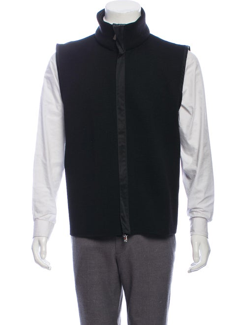 Versace Wool Knit Vest black