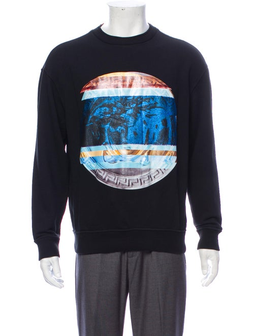 Versace Medusa Insignia Crew Neck Sweatshirt Black